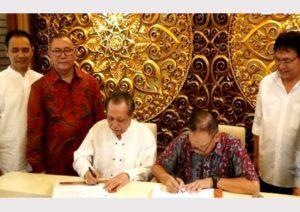 Ketua Umum LKN Nawacita Samsul Hadi menandatangi Memorandum of Understanding (MoU).