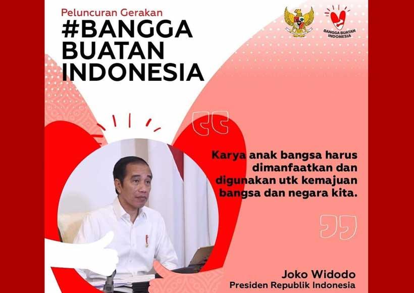 Presiden Jokowi: Bangga Gunakan Produk Indonesia