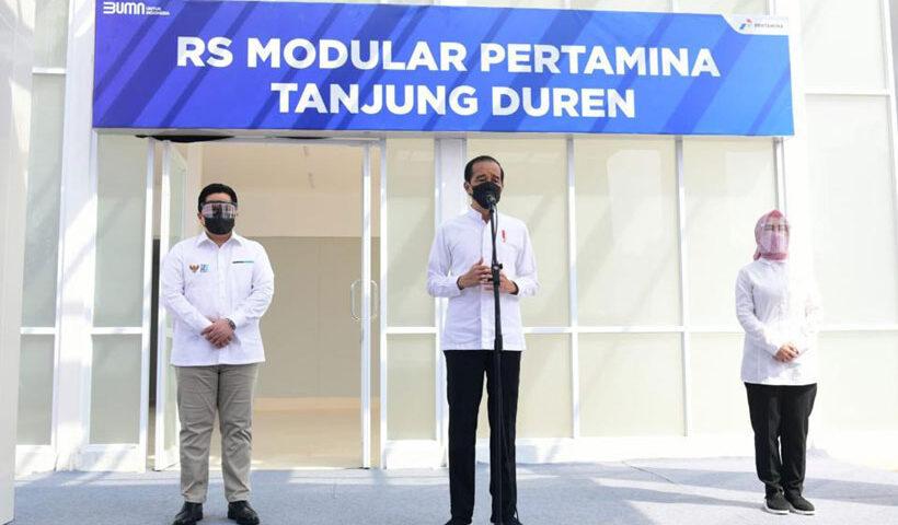 Presiden Jokowi Resmikan RS Modular Pertamina Tanjung Duren
